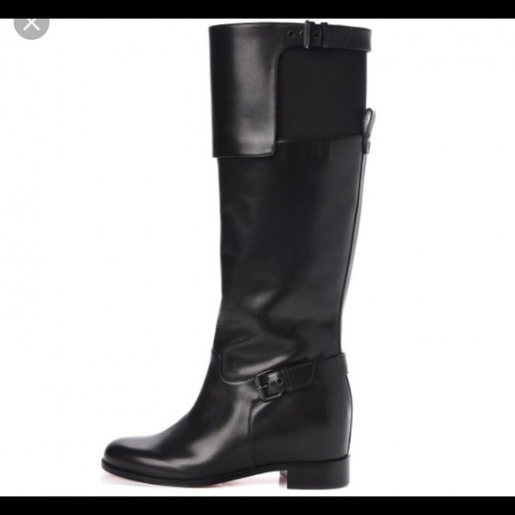uk availability 73037 e5321 Christian LOUBOUTIN Calfskin riding flat boots 37
